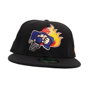 Duck Down Logo New Era Fitted Hat [Black]