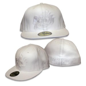Duck Down Logo New Era Fitted Hat [White]