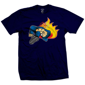Duck Down Music Running Man T-Shirt [Navy]
