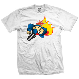Duck Down Music Running Man T-Shirt [White]