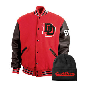 Duck Down Varsity Letterman Jacket Bundle - Red