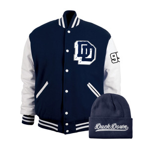 Duck Down Varsity Letterman Jacket Bundle - Navy