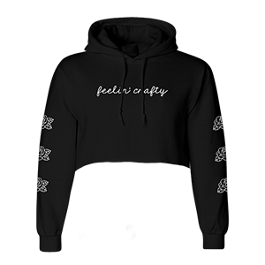 Feelin' Crafty Cropped Hoodie [Black]