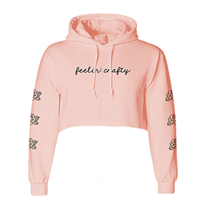 Feelin' Crafty Cropped Hoodie [Peach]
