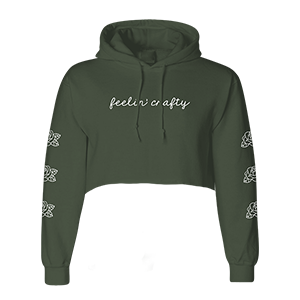 Feelin' Crafty Cropped Hoodie [Green]