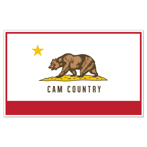 Cam Country Flag Sticker