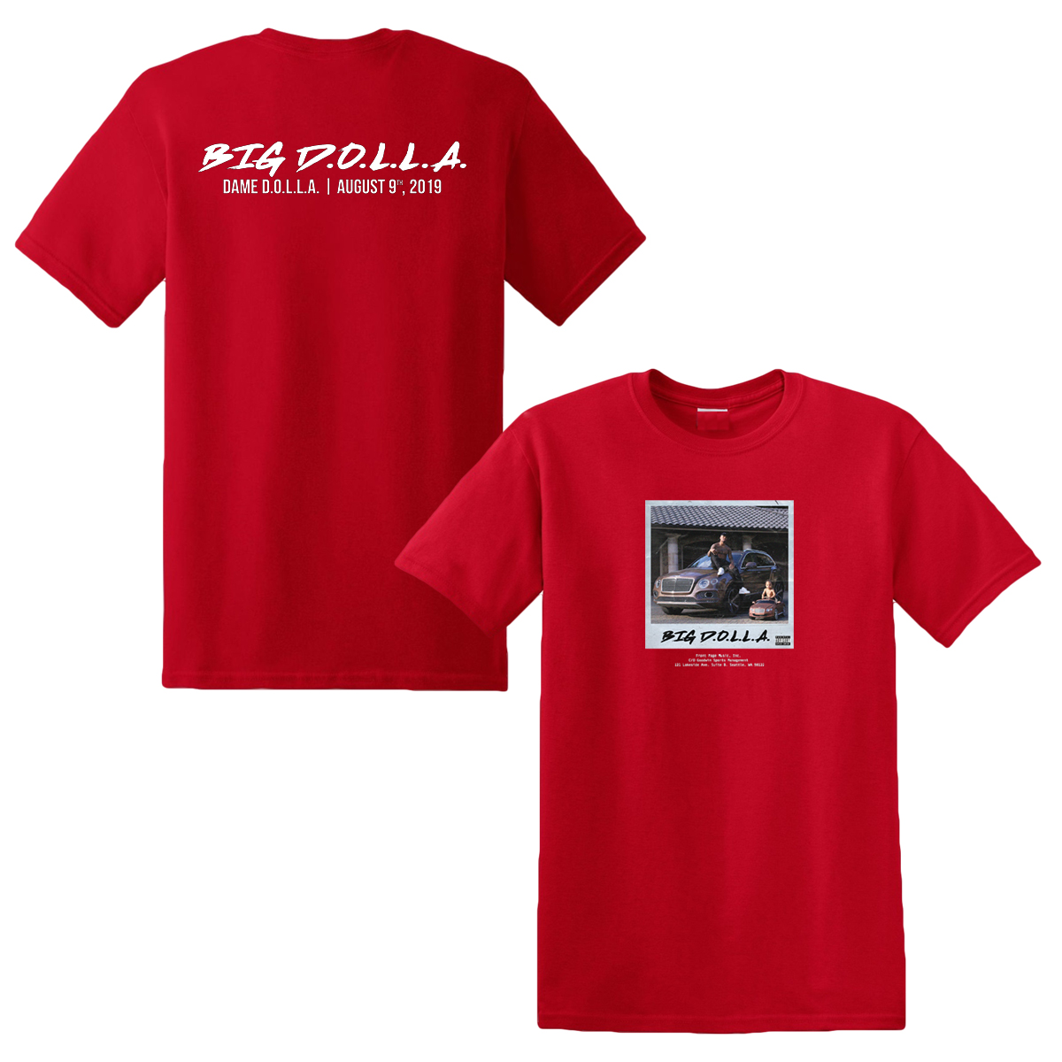 Fan Appreciation Big D.O.L.L.A. Short Sleeve Tee & Big D.O.L.L.A. Deluxe Digital Download