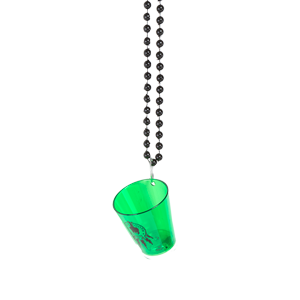 Black Tooth Shot Glass Flashing Necklace