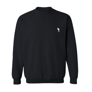 Jidenna Logo Crewneck Sweater (Black)