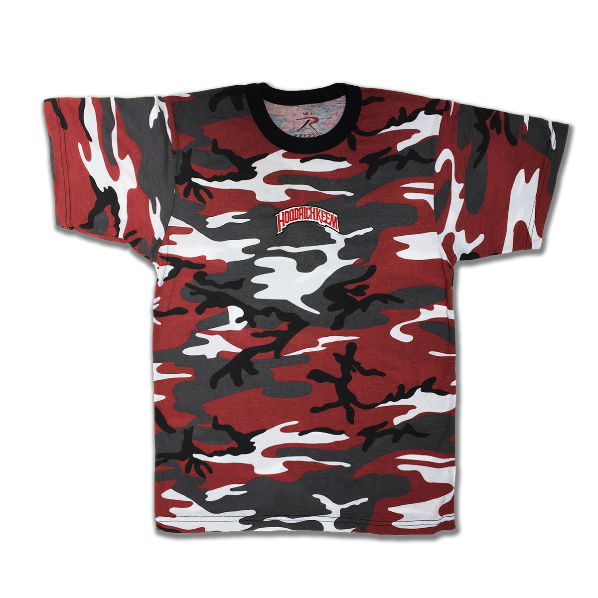 Hoodrich Embroidered Camouflage T-Shirt [Red]
