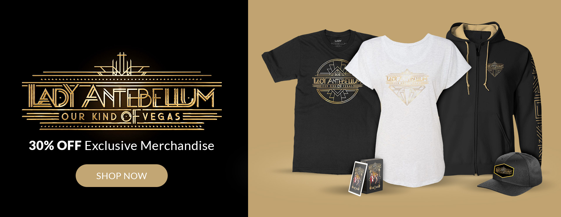 Lady Antebellum 30% Off Exclusive Vegas Merchandise Shop Now