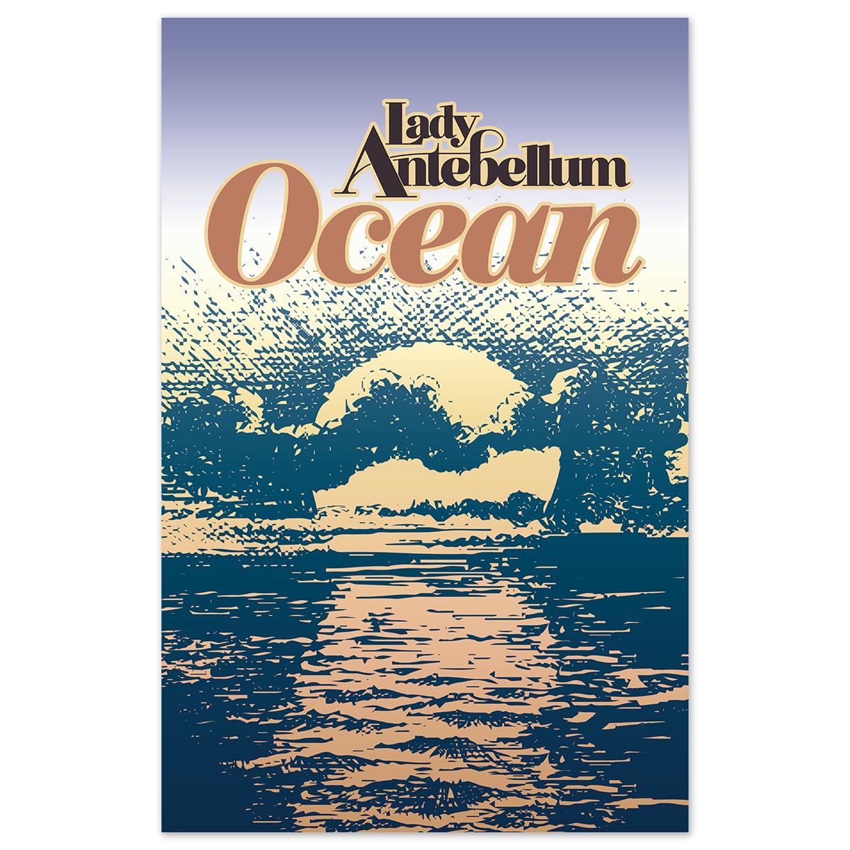 Lady Antebellum - Signed Ocean Poster