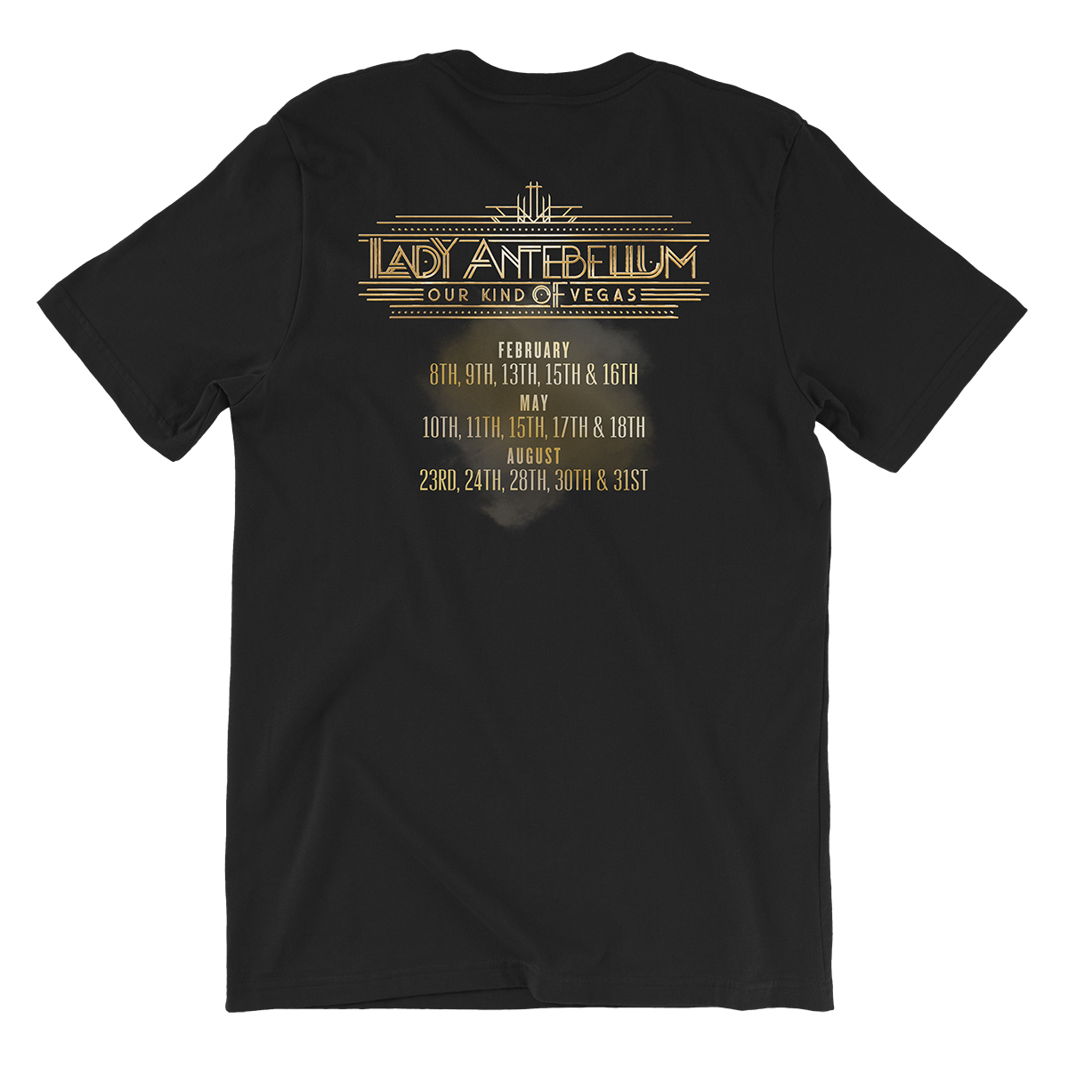 Lady Antebellum Live Mic Photo Vegas Tour Black T-shirt