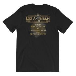 Lady Antebellum Live Mic Photo Vegas Tour Black T-shirt