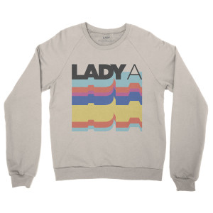Lady A Logo Cream Crew Neck Sweatshirt
