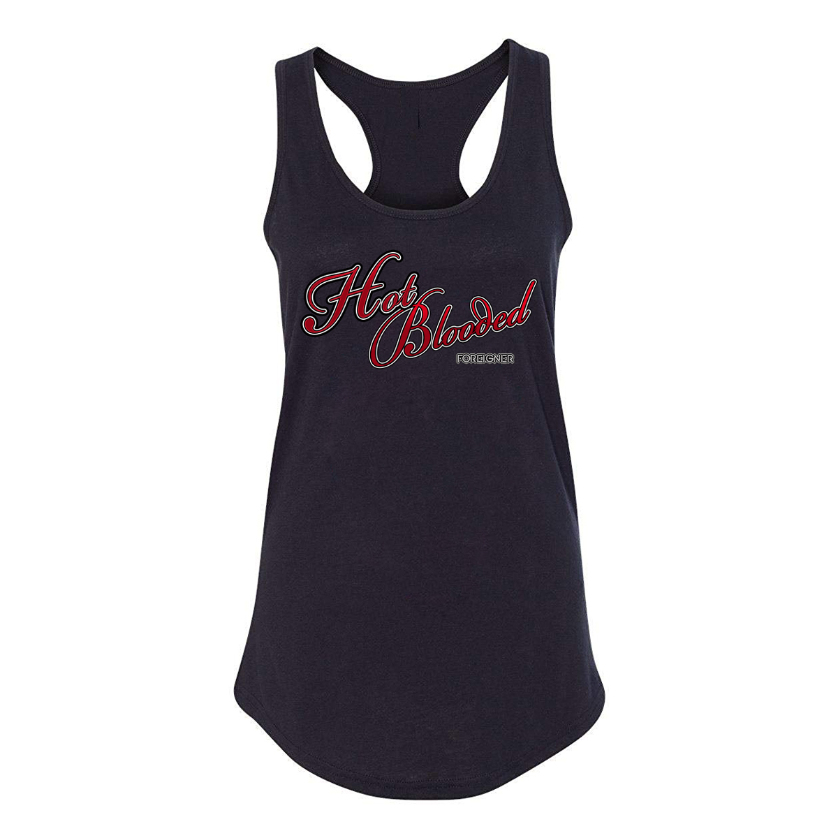 Foreigner - Ladies Hot Blooded Black Tank Top