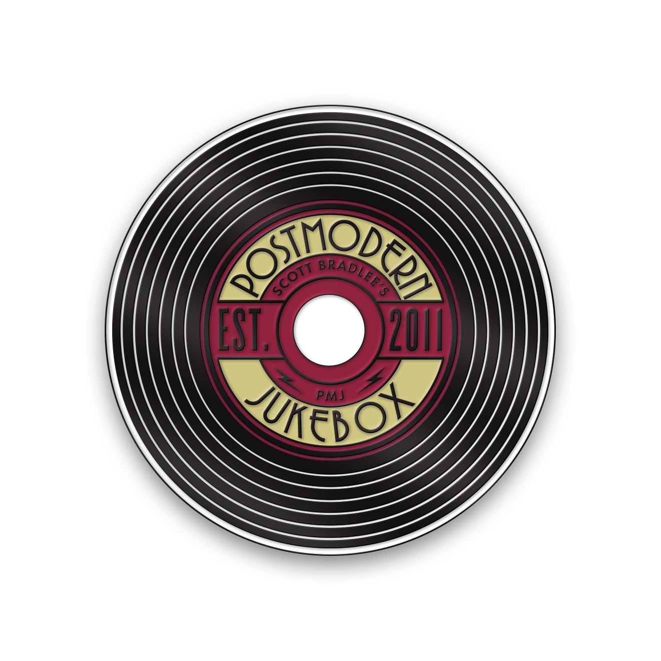 Postmodern Record Pin Enamel