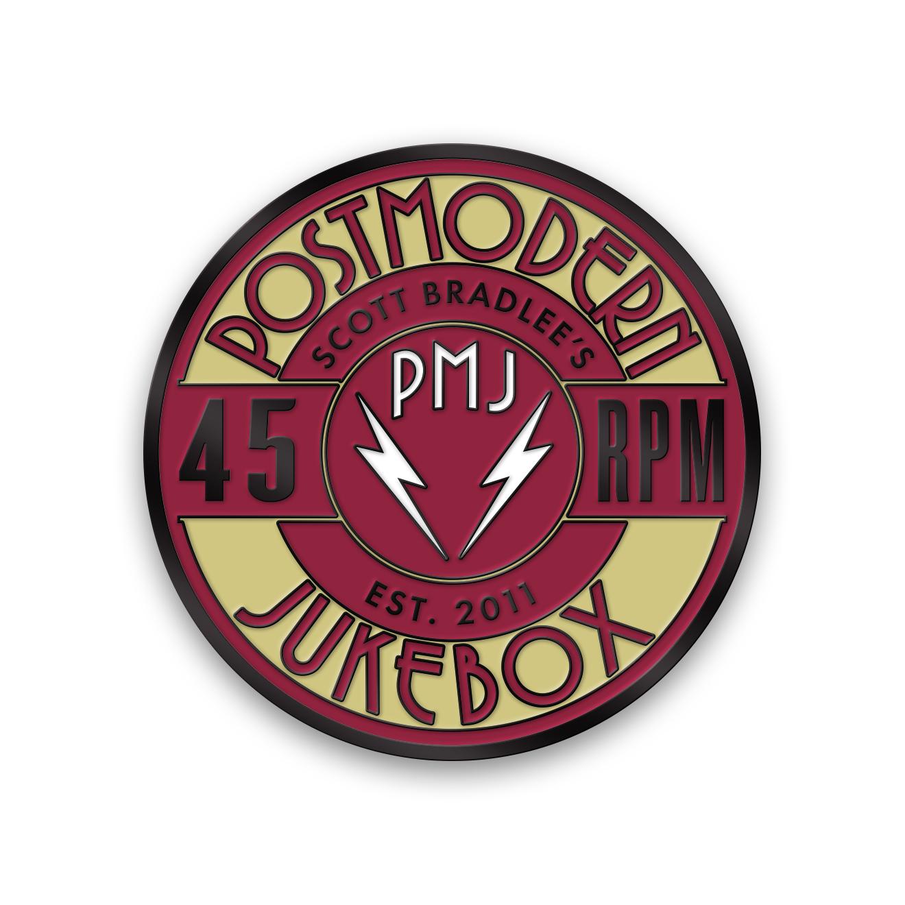 Postmodern 45 RPM Pin Enamel