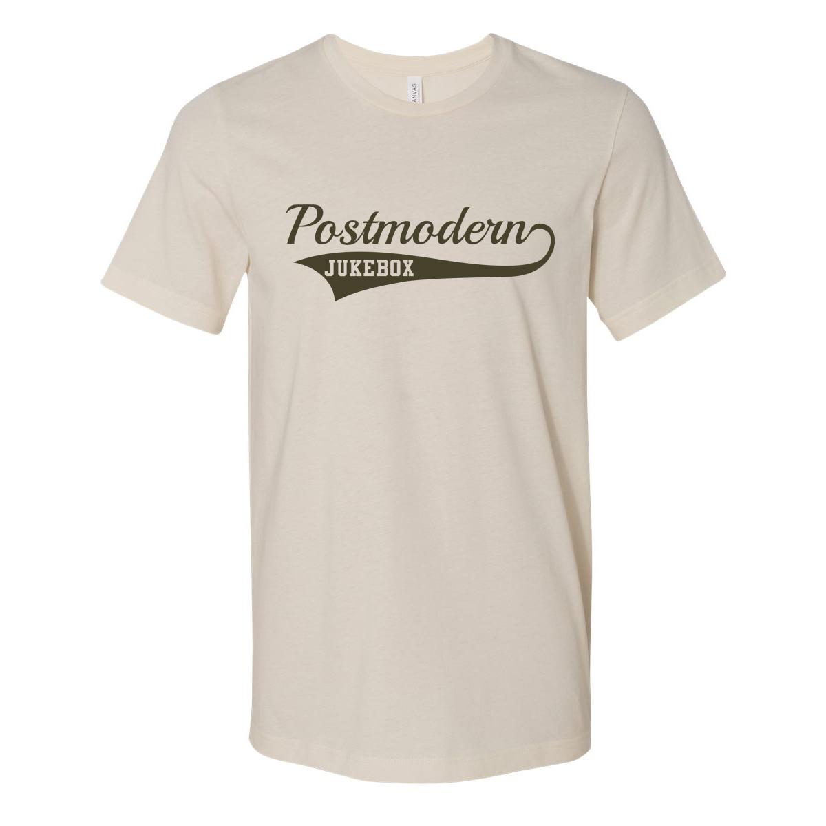 Baseball Script T-Shirt - Natural / Olive