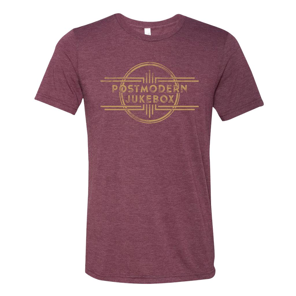 Postmodern Jukebox Crest Logo Triblend T-shirt (Gold Logo)