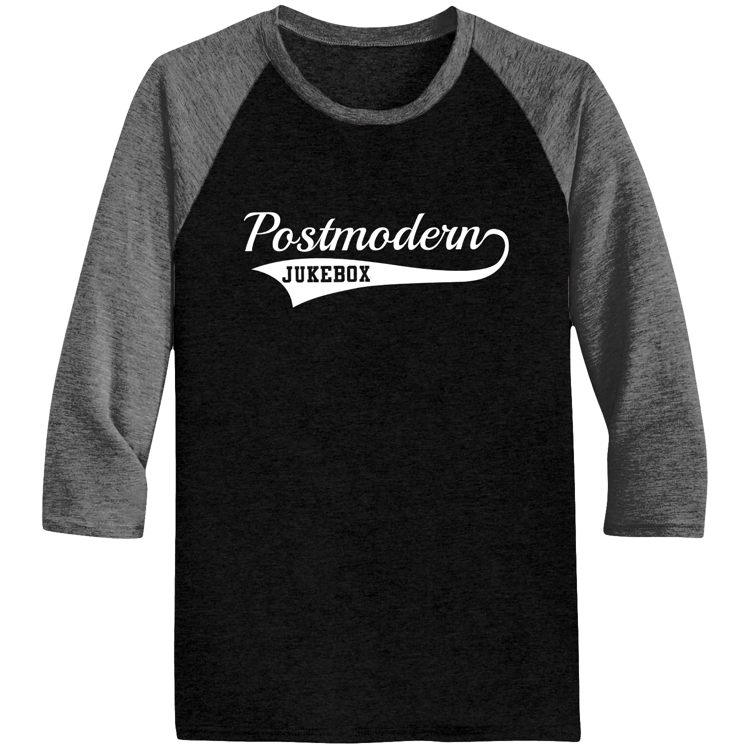 PMJ Heather/Black Baseball Raglan