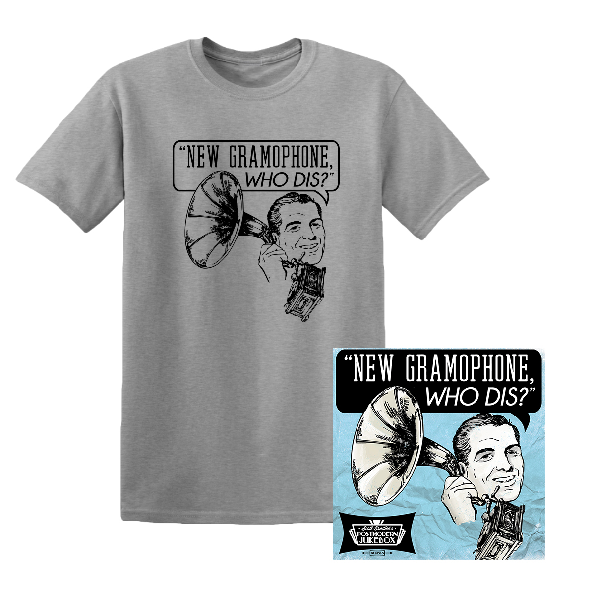 New Gramaphone, Who Dis? CD + T-Shirt bundle