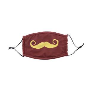 PMJ Mustache Mask (Maroon)