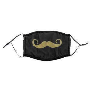 PMJ Mustache Mask (Black)