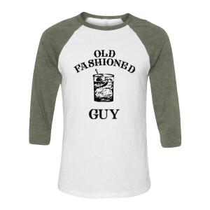 Old Fashioned Guy Green Raglan