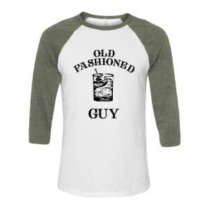 Old Fashioned Guy Green Raglan