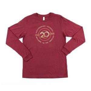 Welcome to the Twenties 2.0 Maroon Long Sleeve T-Shirt