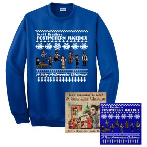 A Very Postmodern Ugly Christmas Sweatshirt and Music Bundle