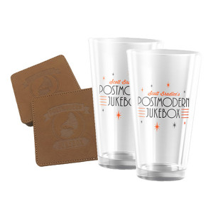 Set of Pint Glasses & Coasters