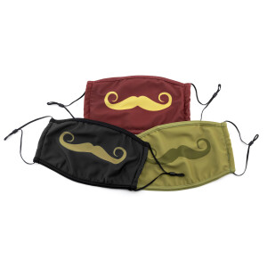 PMJ Mustache Mask 3 pack