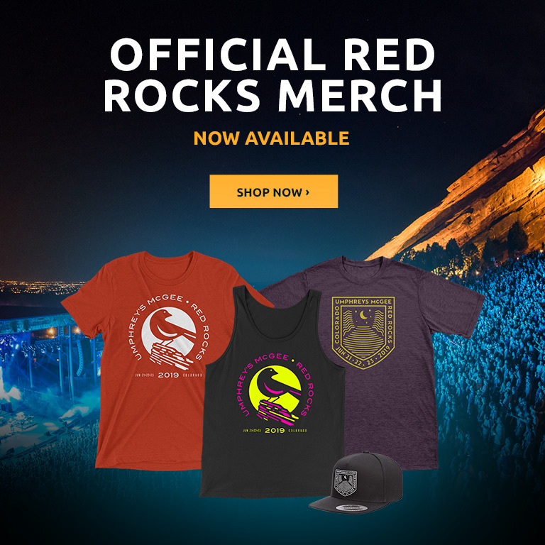 Red Rocks 2019 Merch Now Available
