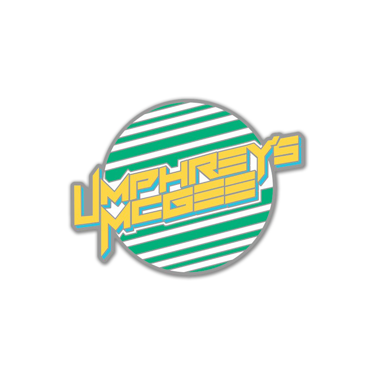 UM Striped Sun Pins