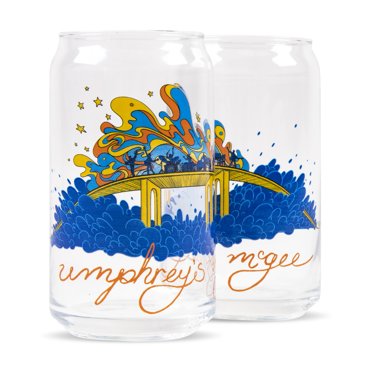 James Flames Can Pint Glass Set of 2