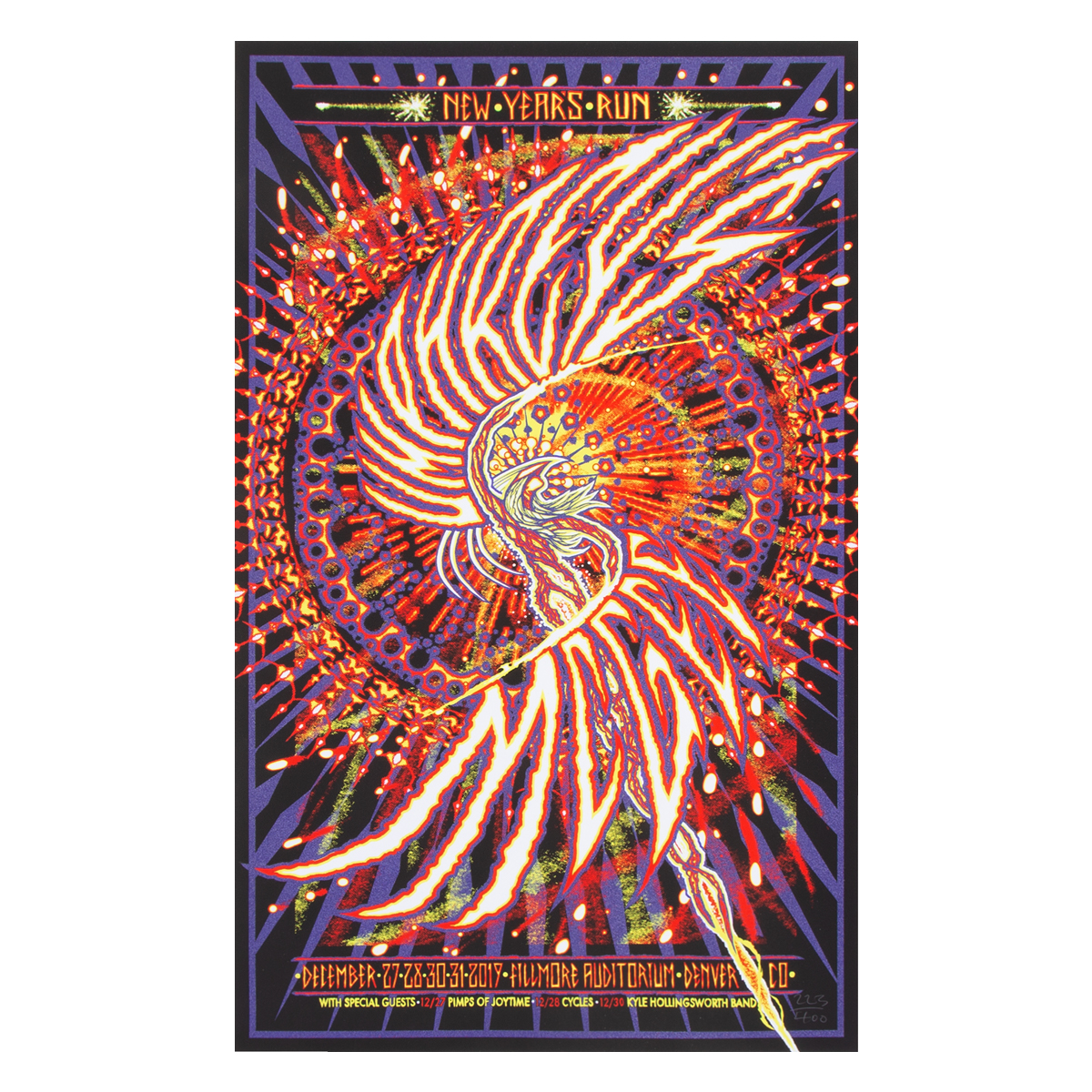 NYE 2019 Poster by Artillery Design