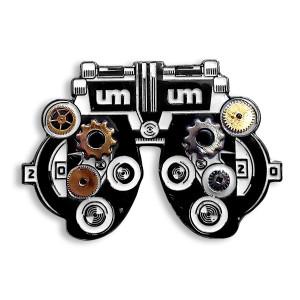 Hindsight 20/20 Steampunk Eyeviewer Pin