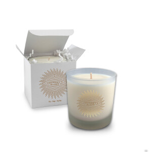 Sage Frosted Candle