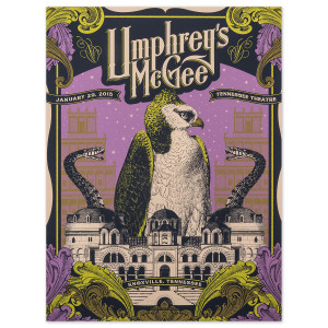 Umphrey's McGee - 01/29/15 - Knoxville, TN Event Poster