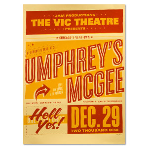 Umphrey's McGee - 12/29/2009 Vic Theatre Commemorative Poster