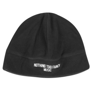 UM Black Fleece Beanie with Nothing Too Fancy Music Logo