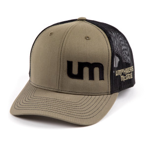 Mesh Trucker Hat - Olive/Tan