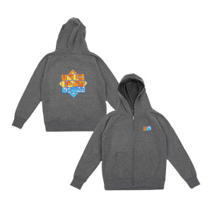 Youth Geoblock Zip Up Hoodie