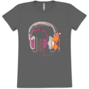 Ladies Headphones Tee