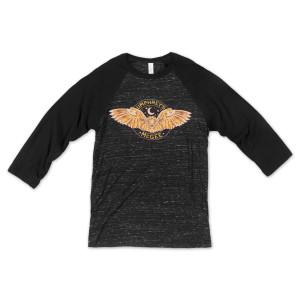 3/4 Sleeve Owl Raglan Tee