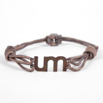 UM Leather/Carbon Steel Unisex Bracelet