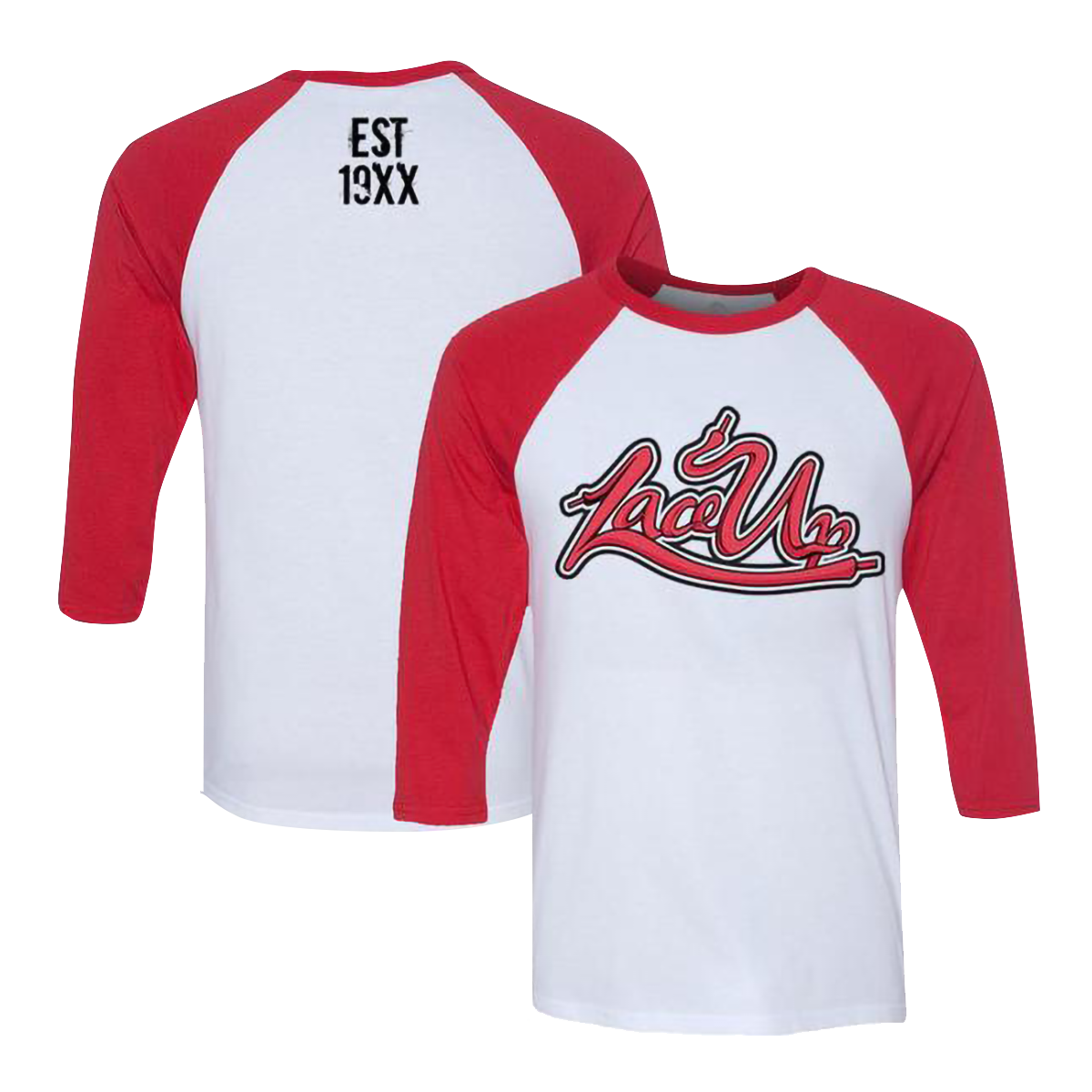 Lace Up Red Baseball Raglan