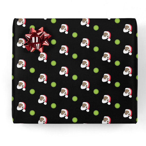 Clarence Claus Dots Gift Wrap | Shop the Greentop Gifts